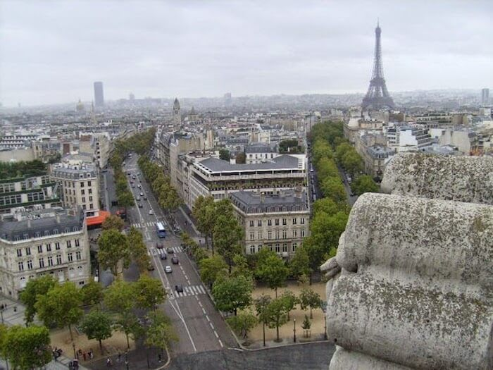 Vista desde o Arco do Triunfo em Paris
