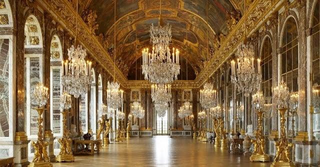 Galeria dos Espelhos no Palácio de Versalhes