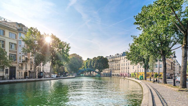 Paisagem do Canal Saint Martin