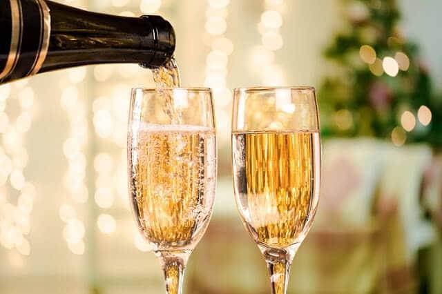 Champanhe no Ano Novo em Paris