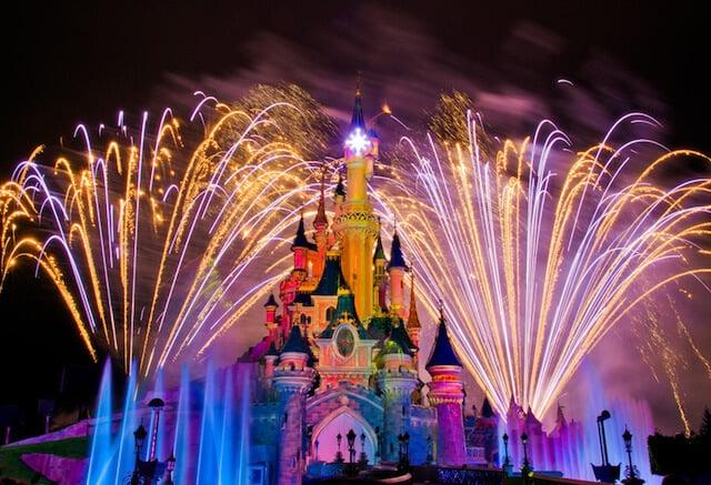 Fogos de artifício no Parque Disneyland