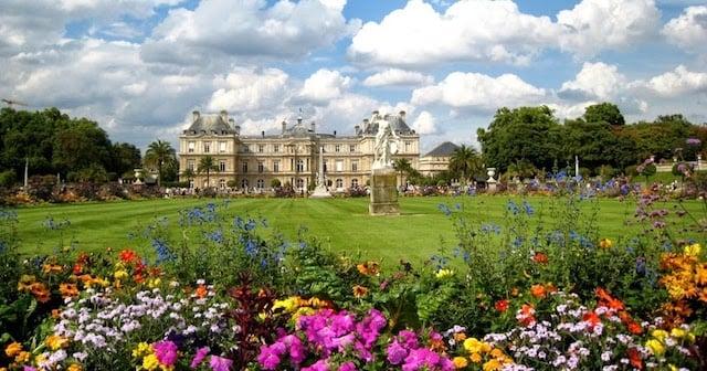Paisagem do Jardim de Luxemburgo
