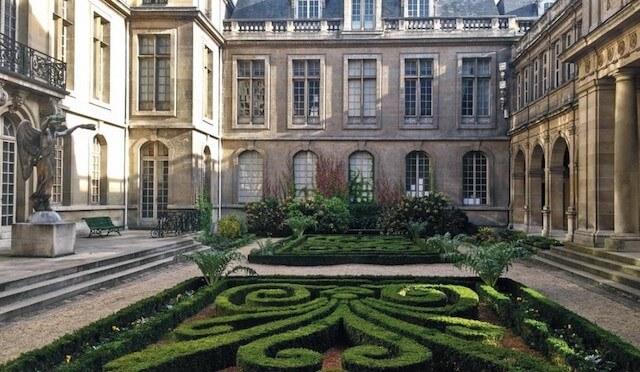 Jardins Museu Carnavalet em Paris