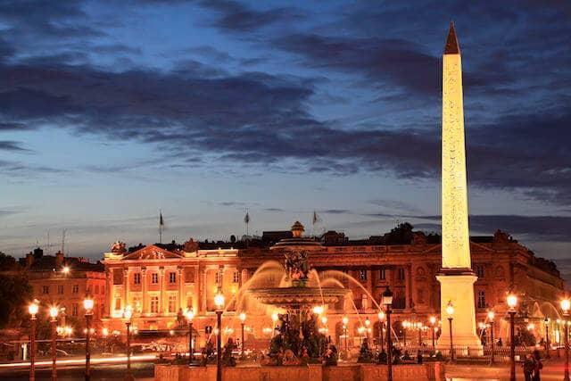 Praça da Concórdia à noite