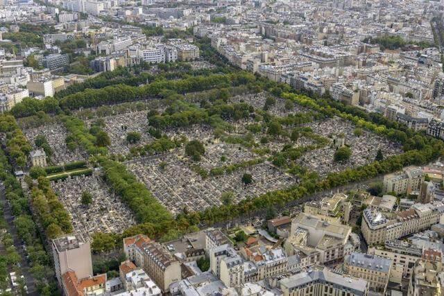 Vista aérea do Cemitério Père Lachaise