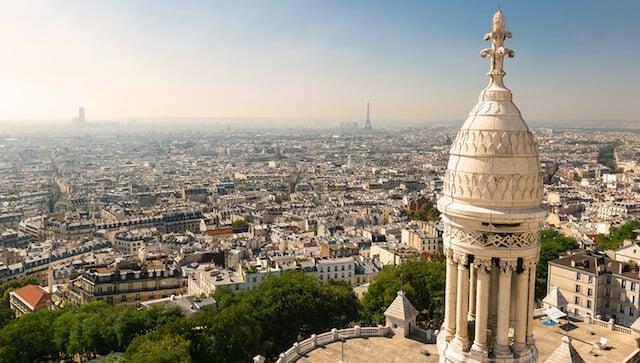 Vista desde a Basílica Sacré Coeur