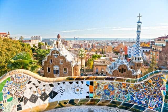 Vista do Park Güell em Barcelona