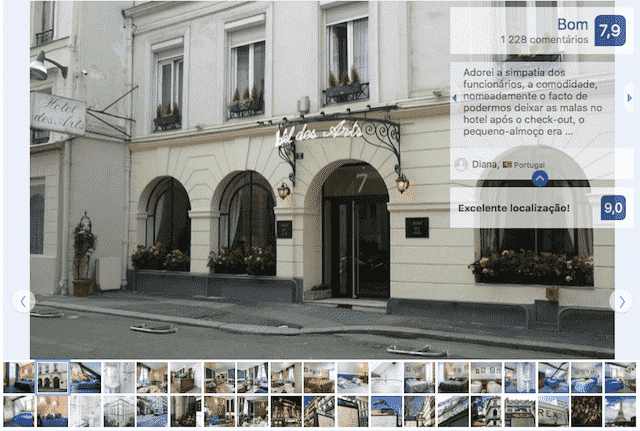 Hotel des Arts em Paris