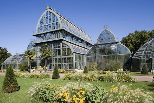Jardins Botânicos no parque de la Tête d'Or em Lyon