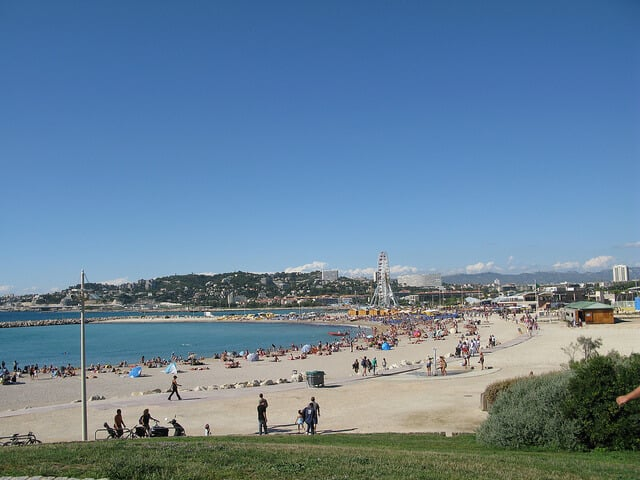 Praia em Marselha