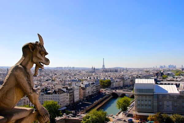 Vista da Torre de Notre Dame em Paris
