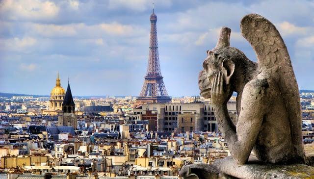 Vista de Paris da Notre Dame