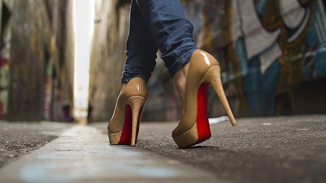 Sapato feminino em Paris