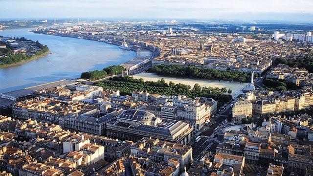 Vista de Bordéus na França