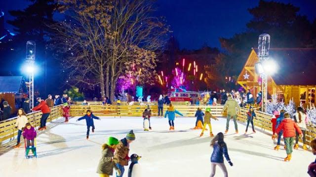 Pista de patinação do Parque d'Acclimatation em Paris