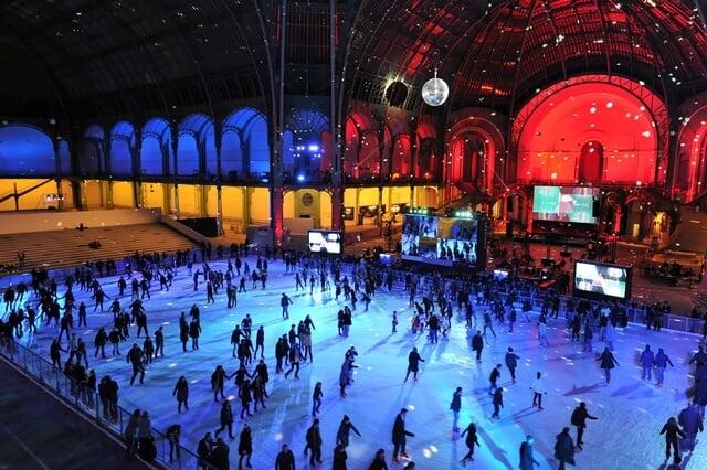 Pista de patinação do Grand Palais em Paris