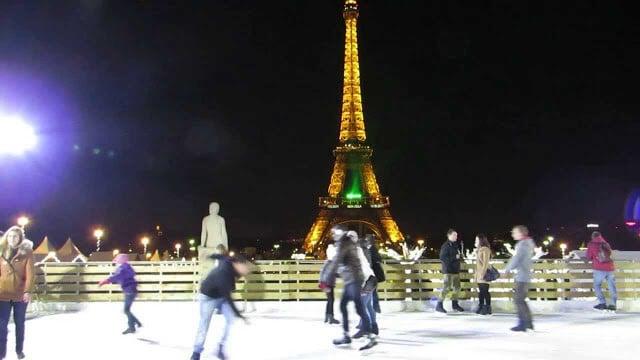 Pista de patinação de Trocadéro em Paris