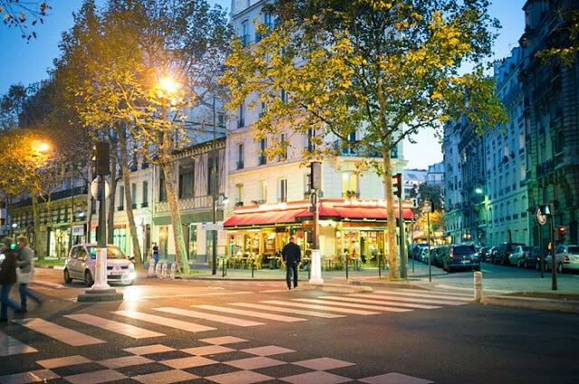 Ruas de Paris em Outubro