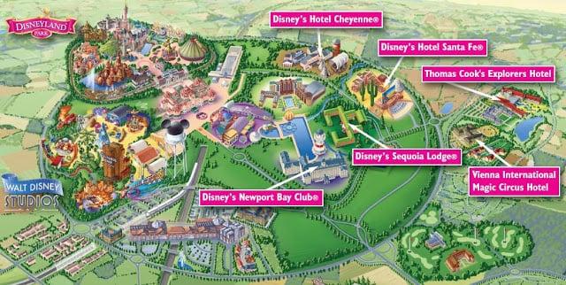 Mapa do Complexo Disneyland Paris