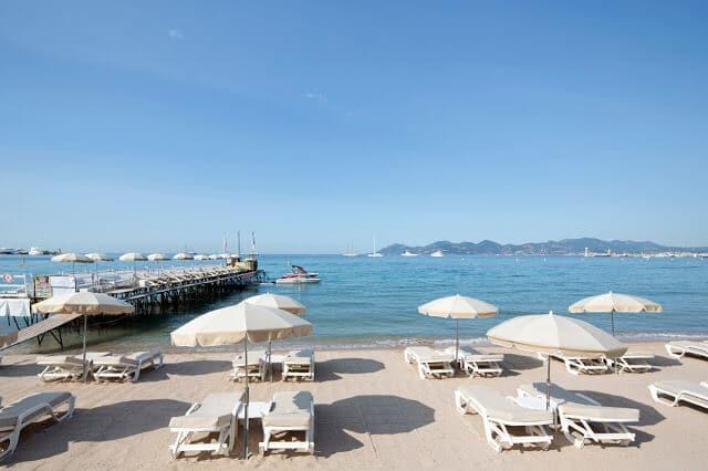 Praia de La Croisette em Cannes