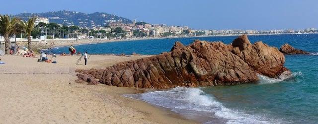 Praia La Bocca em Cannes