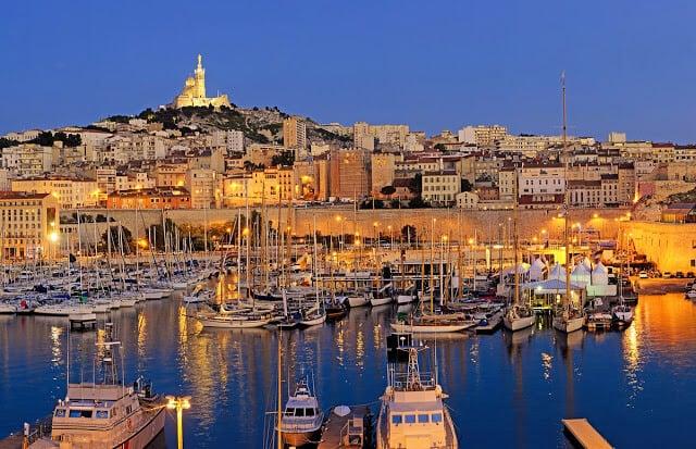Vista do porto de Marselha