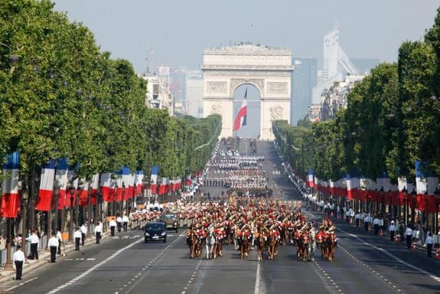 Queda da Bastilha em Paris em 2018