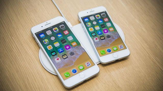 Modelos iPhone 8 e 8 Plus e carregadores