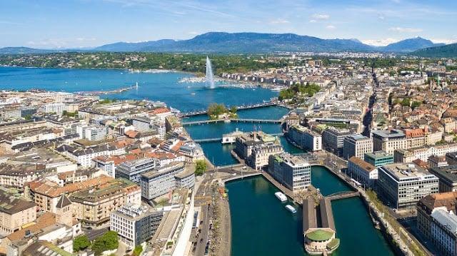 Vista da cidade de Genebra