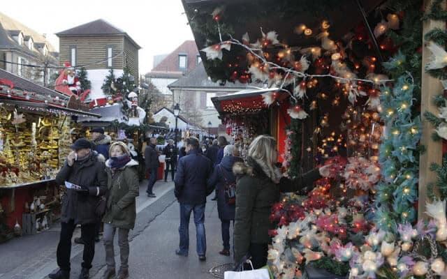 Mercado natalino em Versalhes