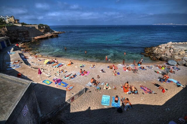 Praia Bain des Dames em Marselha