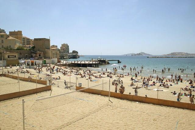 Praia dos Catalãs em Marselha