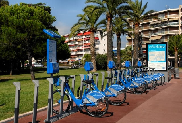 Velo bleu em Nice