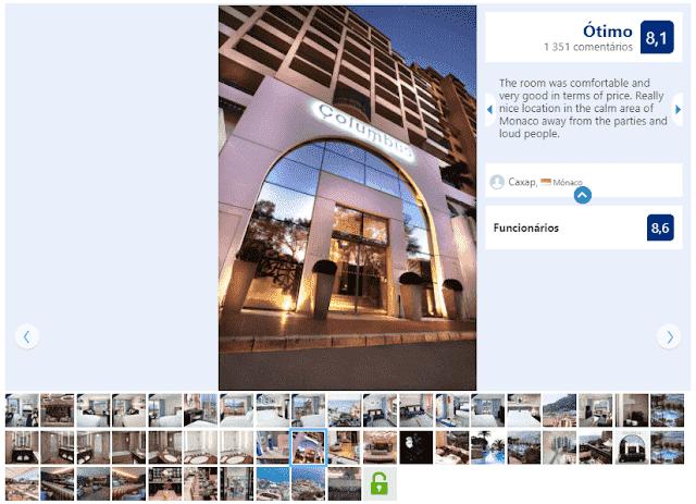Hotel Columbus Monte Carlo em Mônaco