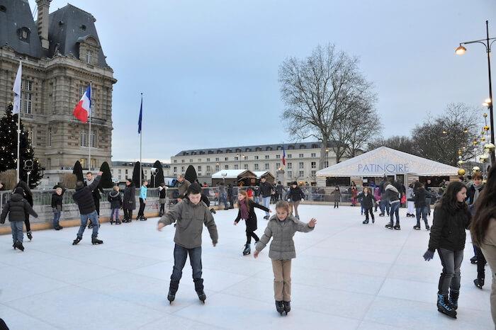 Patinagem gelo em Versalhes