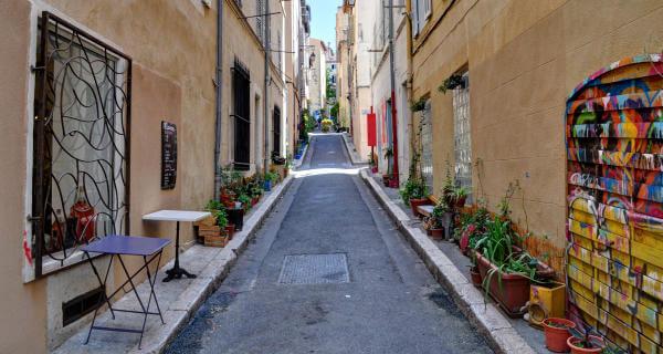 Bairro Le Panier em Marselha