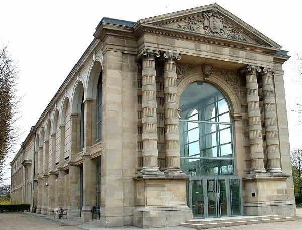 Vista do museu Jeu de Paume em Paris