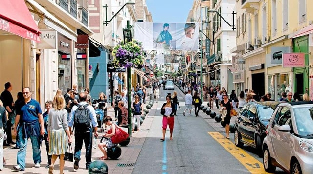 Rua Antibes em Cannes