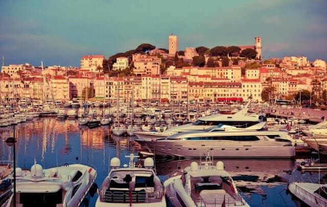 Vista de Cannes no inverno